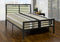 Marlowe Bed Frame - Gun Metal - Single/Double/Queen - The Fine Furniture
