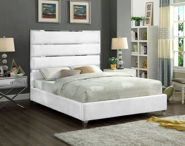 Zendaya Bed Frame - White - Queen/King - The Fine Furniture