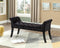 Mya Bench - Black Velvet - The Fine Furniture