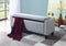 1006 Storage Bench - Grey/Beige Fabric - The Fine Furniture