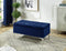 Amiya Storage Bench - Blue - The Fine Furniture