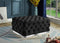 Belen Tufted Ottoman - Black - The Fine Furniture