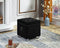 Kaisley Tufted Storage Ottoman - Black - The Fine Furniture