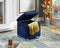 Kaisley Tufted Storage Ottoman - Blue - The Fine Furniture