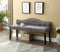 Joel Bench - Grey Velvet - The Fine Furniture