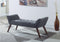 1004 Bench - Grey Fabric - The Fine Furniture