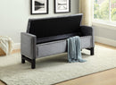 Paige Storage Bench - Grey Velvet - The Fine Furniture