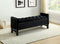 Paige Storage Bench - Black Velvet - The Fine Furniture