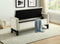 Paige Storage Bench -Creme Velvet - The Fine Furniture