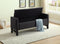 Paige Storage Bench -Charcoal Fabric - The Fine Furniture