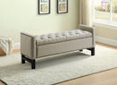 Paige Storage Bench - Beige Fabric - The Fine Furniture
