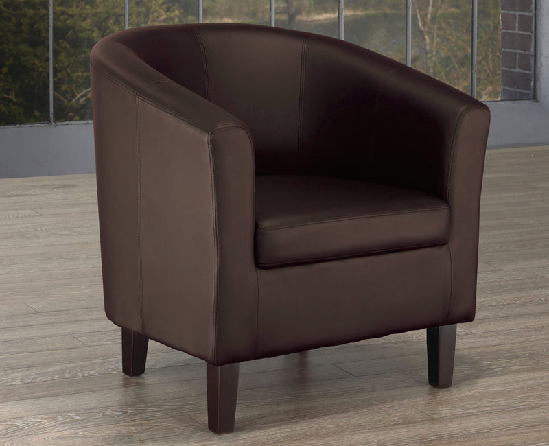 London Accent Chair - Espresso - The Fine Furniture