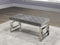 Brooke Bench - Grey Velvet - The Fine Furniture