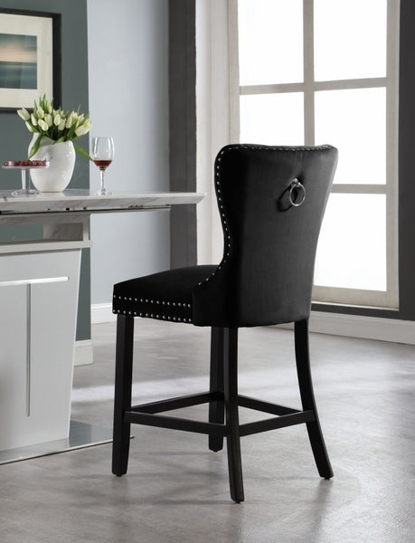 Tanley Bar Stool - Black (Set of 2) - The Fine Furniture