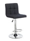 Solomon Bar Stool Black Fabric (Set of 2) - The Fine Furniture