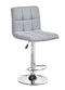 Solomon Bar Stool Light Grey Fabric (Set of 2) - The Fine Furniture