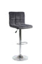 Esmeralda Bar Stool Dark Grey Velvet (Set of 2) - The Fine Furniture