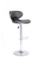 Gregory Bar Stool - Black Leather (Set of 2) - The Fine Furniture