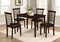 Daniel 5pc Kitchen Set - Black Leather - The Fine Furniture