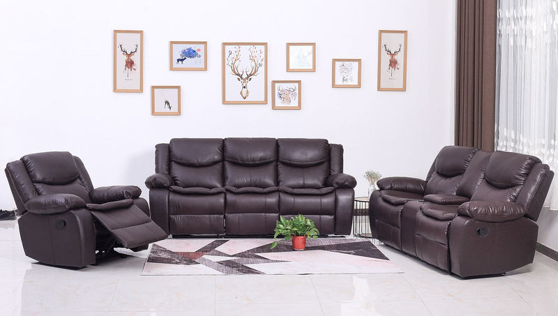 Zoey Recliner Series - Brown - The Fine Furniture