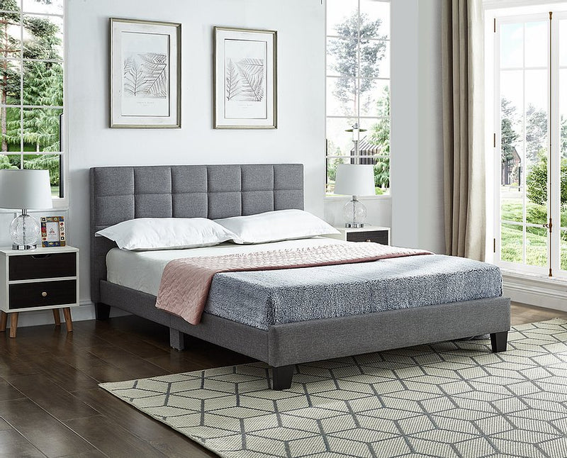 Maci Bed Frame - Double/Queen - Grey - The Fine Furniture