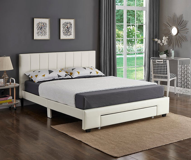 Allie Bed Frame - Double/Queen - White - The Fine Furniture