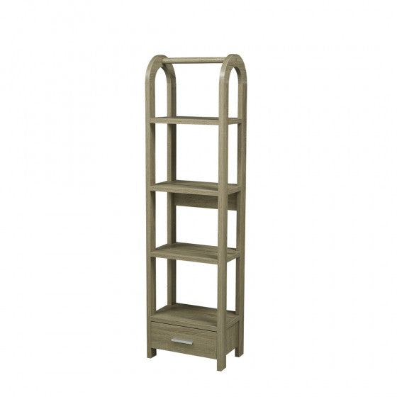 Corbin Display Shelf - Dark Taupe - The Fine Furniture