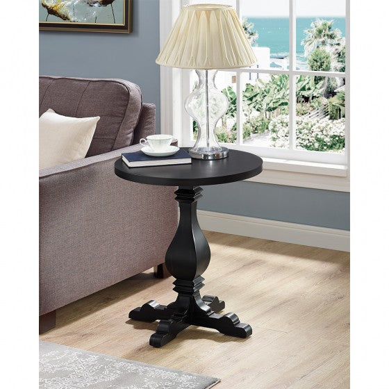 Tyson Side Table - Black - The Fine Furniture
