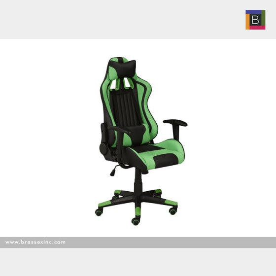 Allen Office Chair - Black/Green - The Fine Furniture