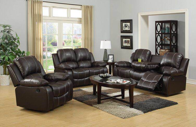 Olsen Recliner Series - Chocolate/Black - The Fine Furniture