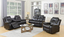 Craig Recliner Series - Chocolate/Black - The Fine Furniture