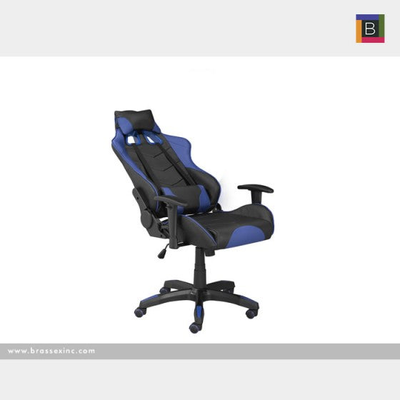 Finnegan Office Chair - Black & Blue - The Fine Furniture