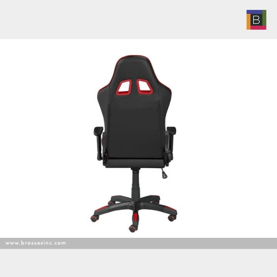 Finnegan Office Chair - Black & Red - The Fine Furniture