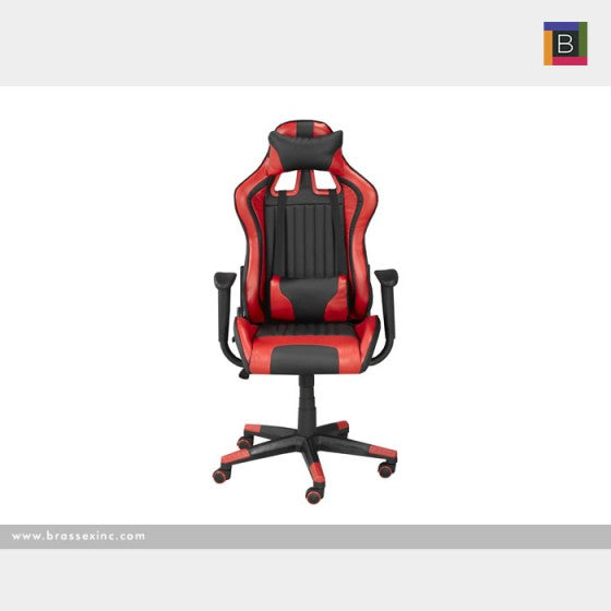 Allen Office Chair - Black/Red - The Fine Furniture