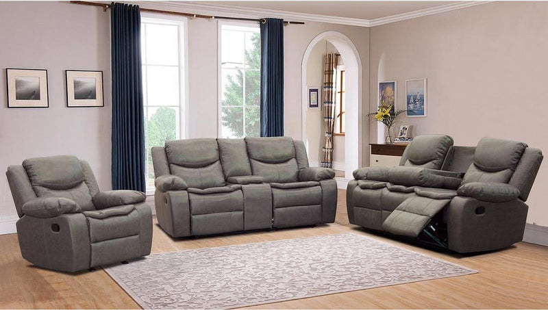 Zoey Recliner Series - Grey - The Fine Furniture