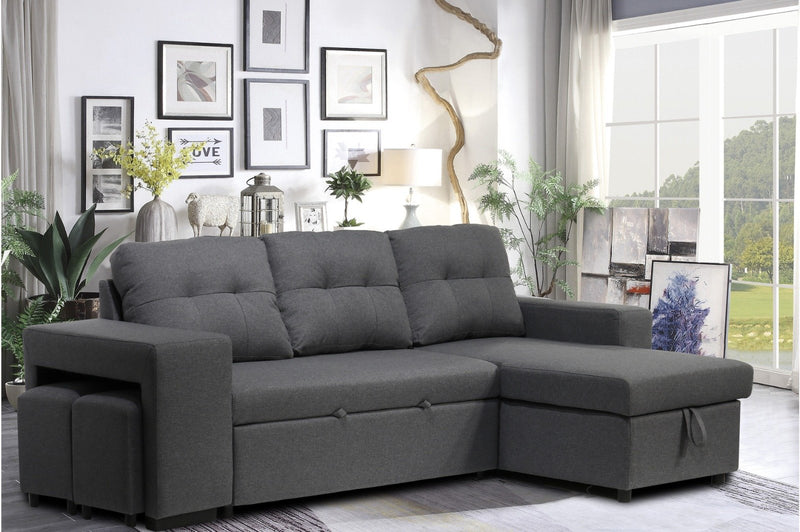 Victor Sofa Bed with Stools - The Fine Furniture