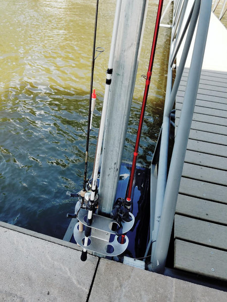 Dock Mounted Fishing Rod Caddy - Dock Essentials