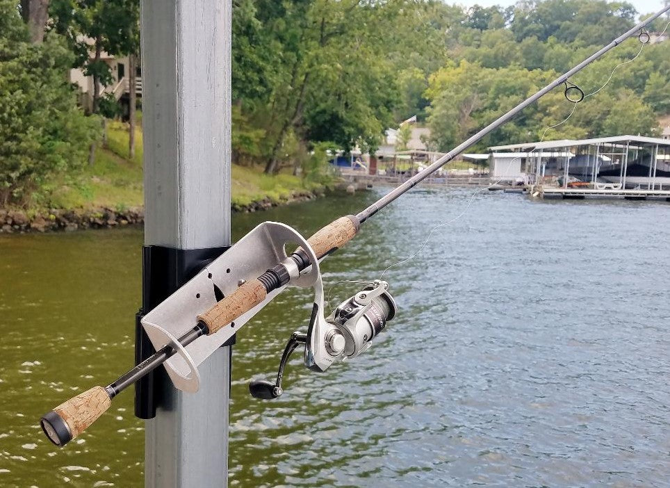 dock mounted fishing rod holder