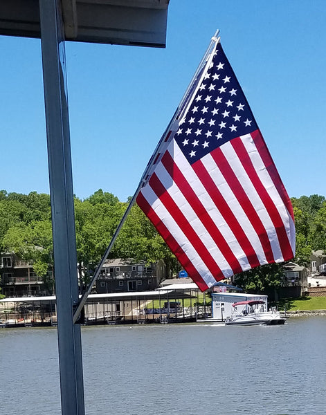 Dock Flag Pole Holder - American Flag - Dock Essentials