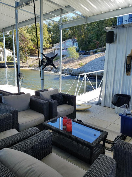 Television Mount for Boat Docks
