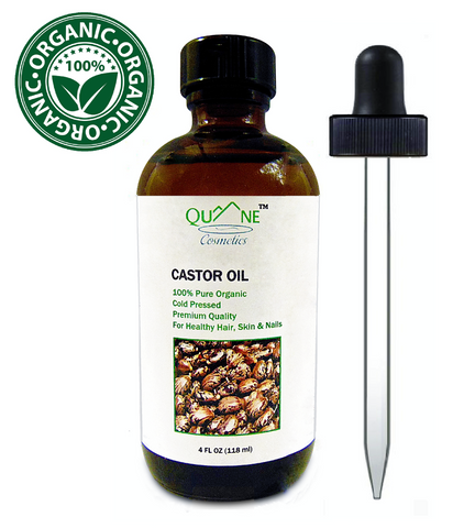 Quane Cosmetics Organic Castor Oil for Hair Growth , Cold Pressed & Hexane Free 4 oz