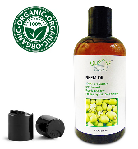 Quane Cosmetics Organic Neem Oil for Troubled Skin , Cold Pressed & Hexane Free 8 oz