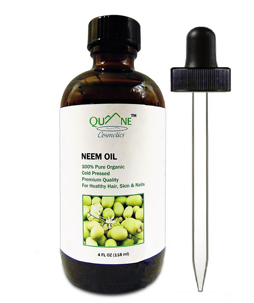 Quane Cosmetics Organic Neem Oil for Anti-Fungal Relief of Dandruff & Itchy Scalp,  Fights Troubled Skin