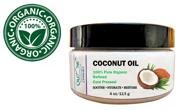 Quane Cosmetics Organic Coconut Oil for Moisturized Skin & Hair 4 oz