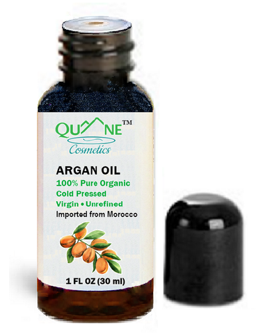 Quane Cosmetics Organic Moroccan Argan Oil for Eyelash/Brow Regrowth & Combat Wrinkles