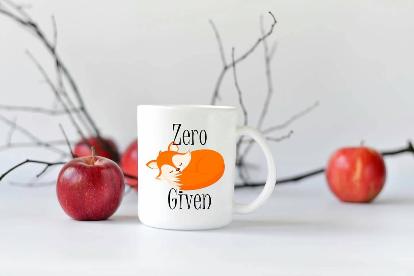 Zero Fox Given - Christmas Gift - Coffee Mug - Funny Coffee  Mug - Coffee Cup - Mug - Cute Mug - Personalized Mug - Fox - zero fox given mug