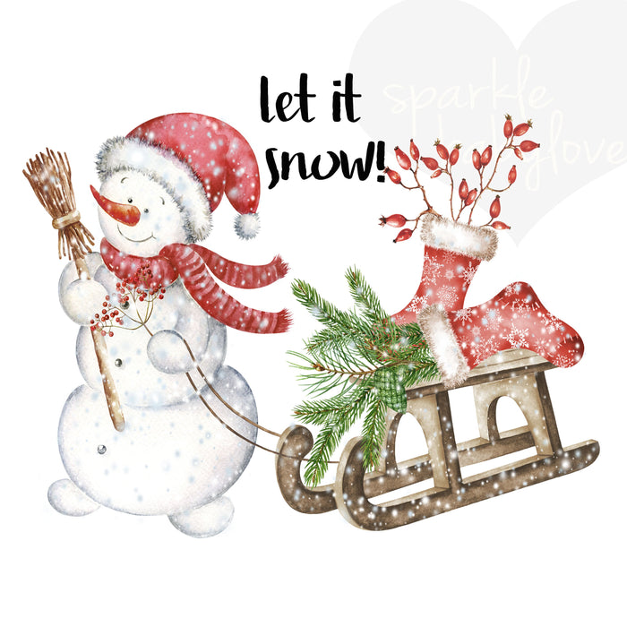 Let its snow Holiday Iron On Ready To Press Transfer Christmas design, Merry Christmas Iron on, Let it snow Iron on, Christmas Design