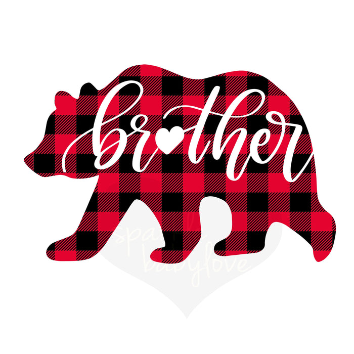 Brother Bear plaid lumberjack buffalo  Holiday Iron On Ready To Press Transfer Christmas design, bear Iron on, Christmas Design