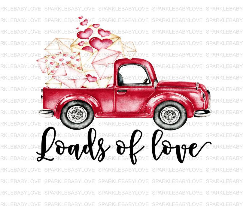 Valentines Day Iron On Ready To Press Transfer, Valentine design, Valentine Truck Iron on, Red Truck Valentines Day Iron on, Sublimation
