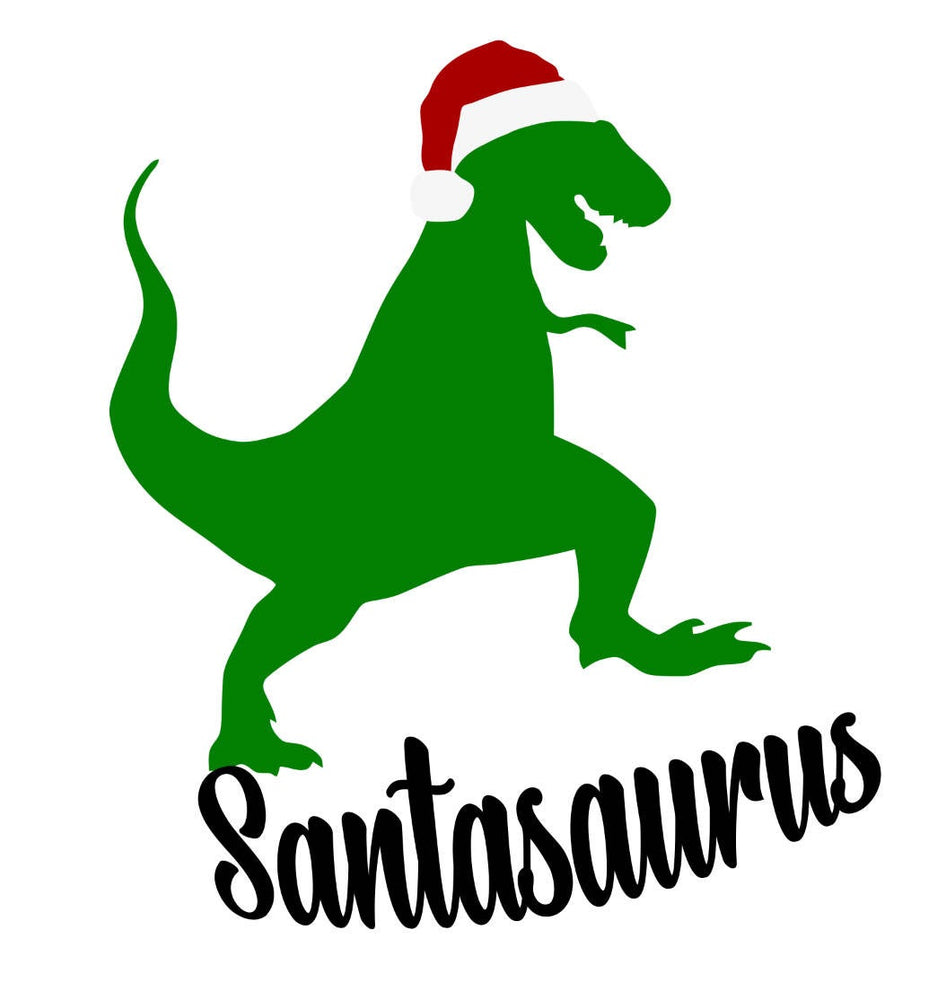 Santasaurus Iron On Ready To Press Transfer Christmas design,  Iron on